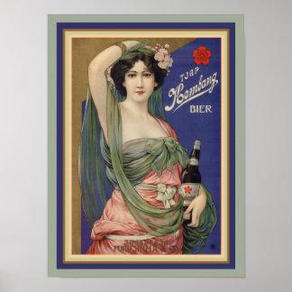 Kembang Bier Vintage Ad Poster 12 x 16