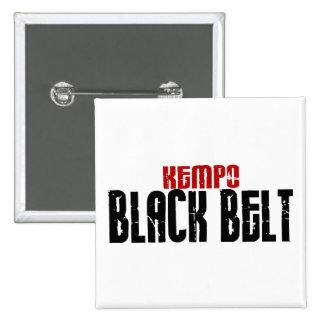 Kempo Black Belt Karate Button