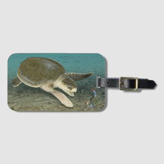 Kemp's Ridley Sea Turtle in Habitat Luggage Tag