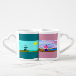 ken and barbi coffee mug set
