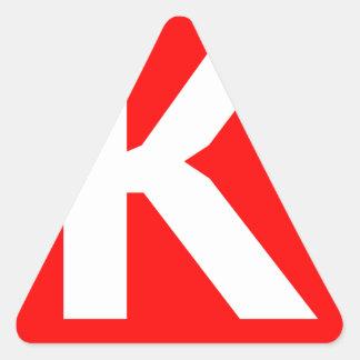 Ken Art Icon Triangle Sticker
