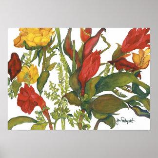 Ken & Jane's Flowers Poster