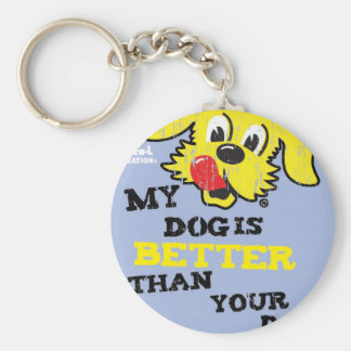 Ken L Ration T Shirt My Dogs Better Basic Round Button Key Ring