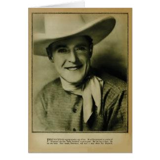 Ken Maynard 1926 vintage portrait card
