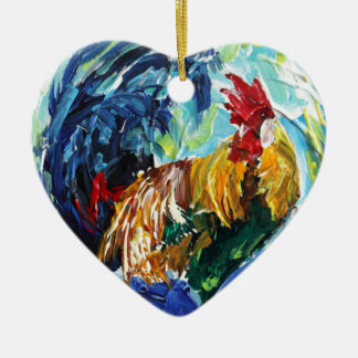 Ken the Rooster. Love chickens love these special Ceramic Heart Decoration