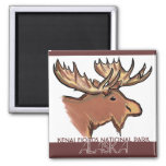 Kenai Fjords National Park Alaska moose magnet