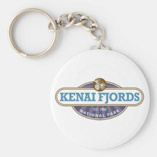 Kenai Fjords National Park Basic Round Button Key Ring