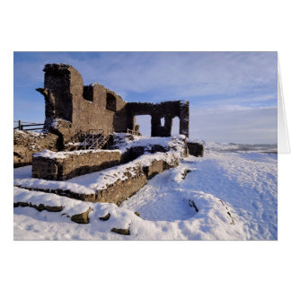 Kendal Castle, Cumbria - Winter greetings Greeting Card
