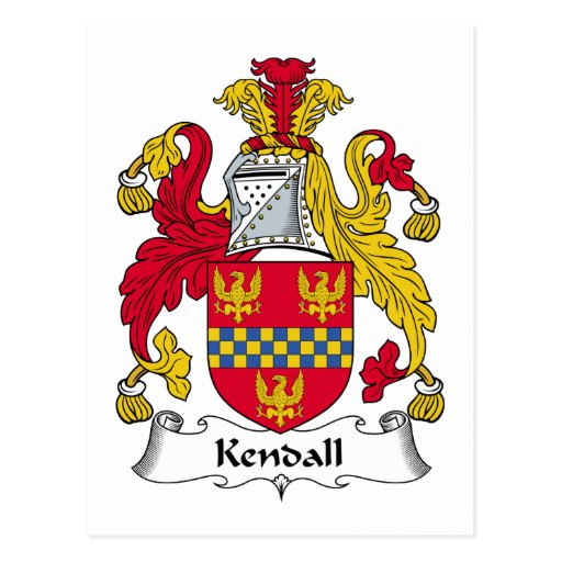 Kendall Family Crest Post Cards