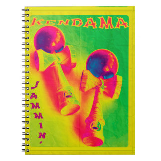 Kendama Jammin' Psychedelic Poster Notebooks