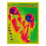 Kendama Jammin' Psychedelic Poster Poster