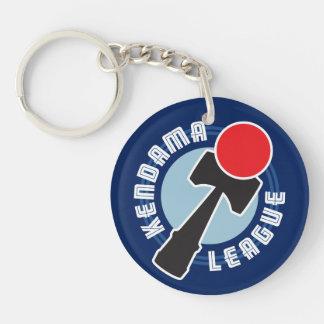 Kendama League Double-Sided Round Acrylic Key Ring
