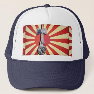 Kendama Wave Lighthouse with Vintage Japan Flag Trucker Hat