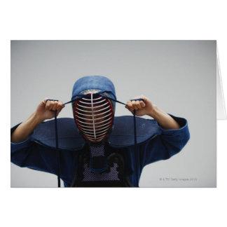 Kendo Fencer Fastening Mask 2 Card