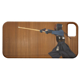 Kendo Fencer Practicing iPhone 5 Cases