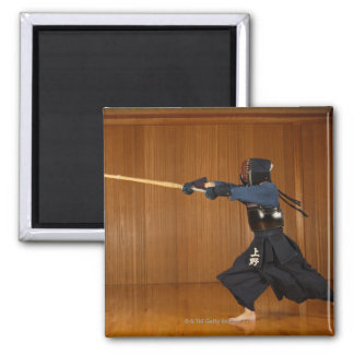 Kendo Fencer Practicing Magnet