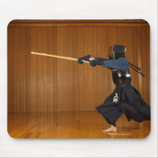 Kendo Fencer Practicing Mouse Mat