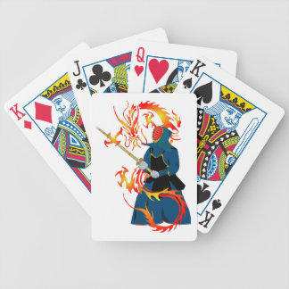 Kendo Swordsman and Fire Dragon Playing Cards