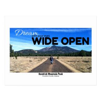 Kendrick Mountain Peak Photo In Dry Brush Filter Postcard