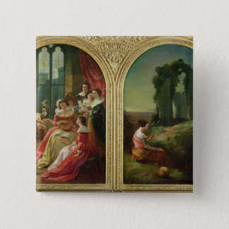 Kenilworth Castle - Past and Present, 1854 15 Cm Square Badge