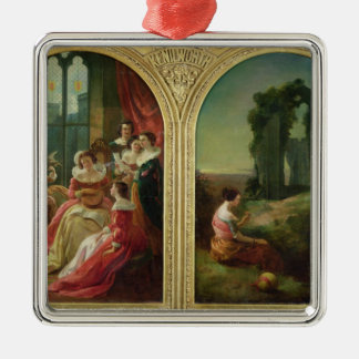 Kenilworth Castle - Past and Present, 1854 Christmas Tree Ornaments