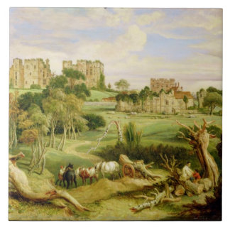 Kenilworth Castle, Warwickshire, 1840 (oil on pane Large Square Tile