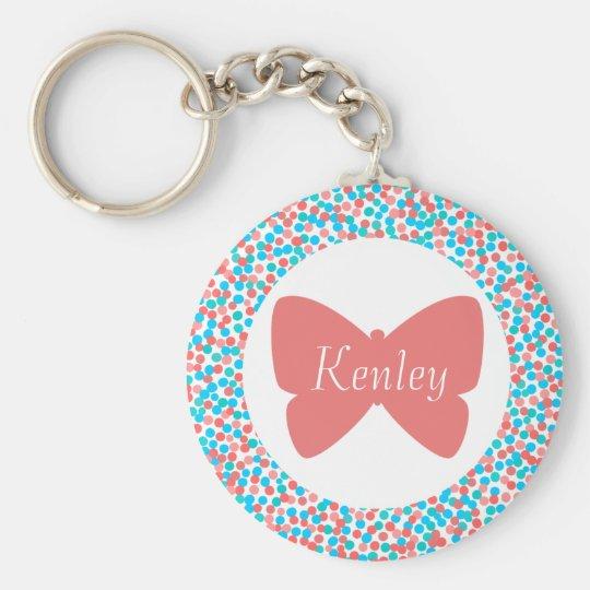 Kenley Butterfly Dots Keychain