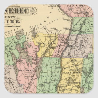 Kennebec Co, Maine Square Sticker
