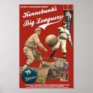 Kennebunk s Big Leaguers exhibition poster