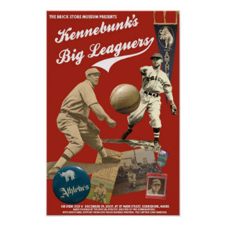Kennebunk's Big Leaguers exhibition poster