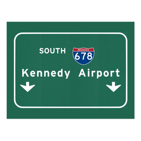 Kennedy Airport JFK I-678 NYC New York City NY Postcard