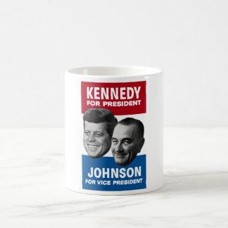 Kennedy And Johnson 1960 Election Poster Coffee Mug