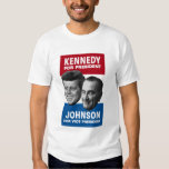 Kennedy And Johnson 1960 Election Poster Tee Shirt