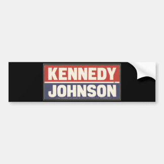 Kennedy and Johnson Sticker Bumper Sticker