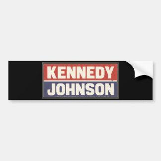Kennedy and Johnson Sticker Car Bumper Sticker