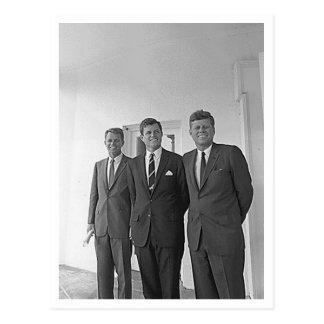 Kennedy Brothers, John, Ted, Robert Postcard