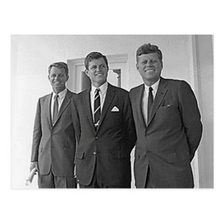 Kennedy Brothers, John, Ted, Robert Postcard