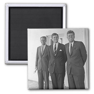 Kennedy Brothers, John, Ted, Robert Square Magnet