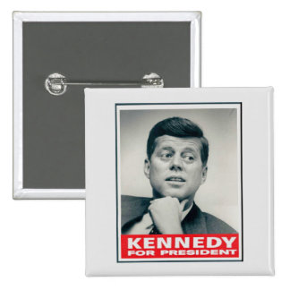 Kennedy for President 15 Cm Square Badge