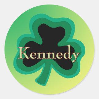 Kennedy Irish Round Sticker