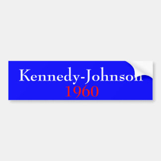 Kennedy-Johnson 1960 Bumper Sticker