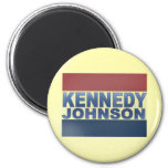 Kennedy Johnson Campaign 6 Cm Round Magnet
