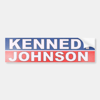 Kennedy Johnson Campaign Bumper Sticker