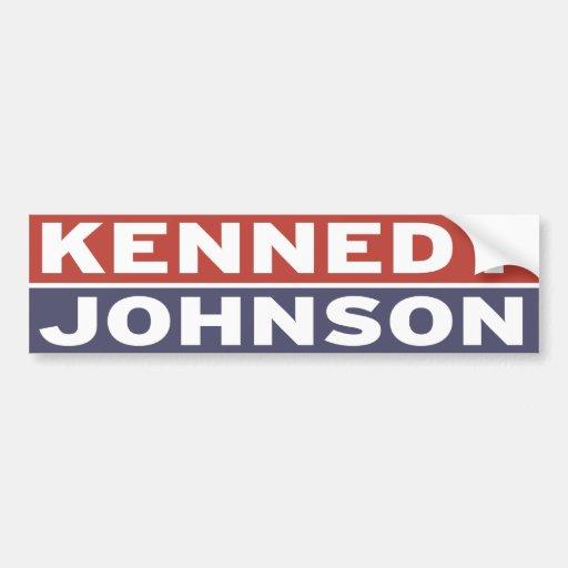 Kennedy / Johnson Car Bumper Sticker