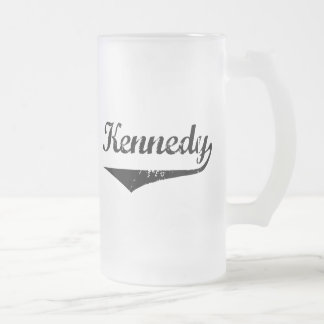 Kennedy 16 Oz Frosted Glass Beer Mug