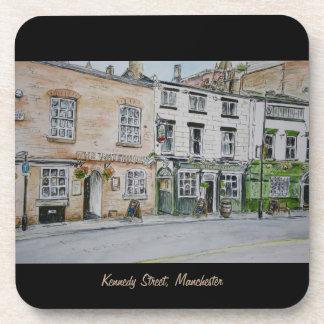 Kennedy Street Manchester (UK) watercolour coaster