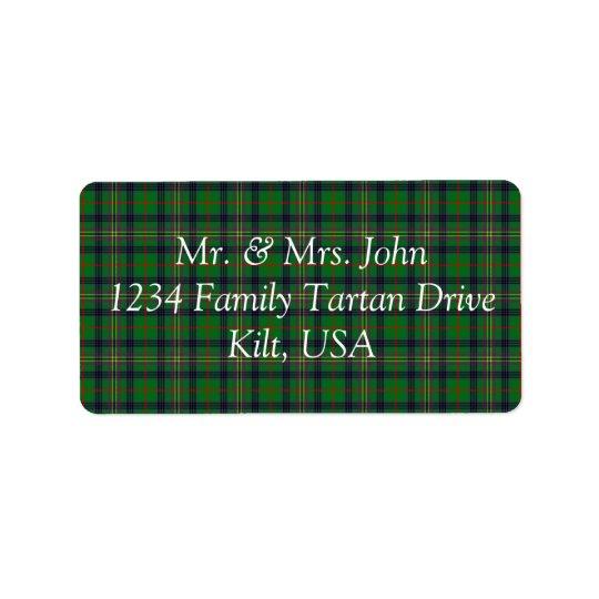 Kennedy Tartan Label Address Label