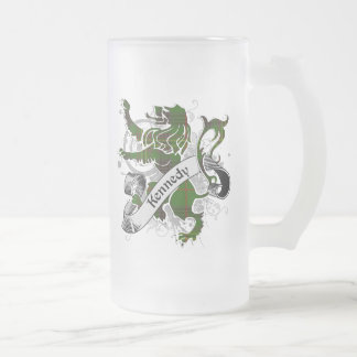 Kennedy Tartan Lion Frosted Glass Beer Mug
