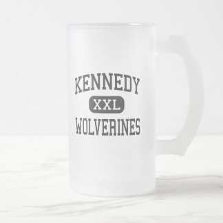 Kennedy - Wolverines - High - Suffolk Virginia Frosted Glass Mug