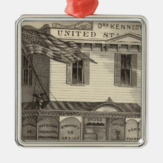 Kennedy's United States Pharmacy, Cape May City Silver-Colored Square Decoration
